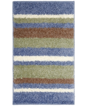Home Dynamix Avalon Non-Slip Stripe Shaggy Bath Mat Bedding