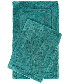 Home Dynamix Nicole Miller Newton Reversible Cut and Loop Framed Border 2-Piece Cotton Bath Mat Set