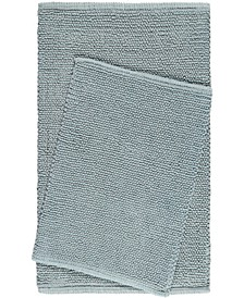 Nicole Miller Newton Reversible Cut and Loop Pebbled 2-Piece Cotton Bath Mat Set