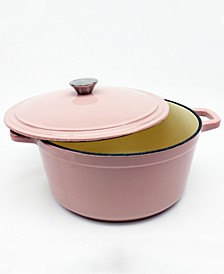 Cast Iron 7 Qt Round Covered Stockpot