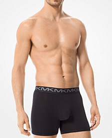 마이클 코어스 속옷 하의 (3pk) Michael Kors Mens 3-Pk. Stretch Factor Boxer Briefs,Black