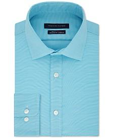 Tommy Hilfiger Men's TH Flex Athletic Fit Non-Iron Stretch Tonal Micro-Stripe Dress Shirt