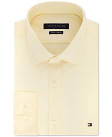 Tommy Hilfiger Men's Slim-Fit Stretch Solid Dress Shirt