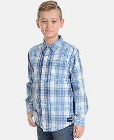 Big Boys Washout Plaid Cotton Shirt