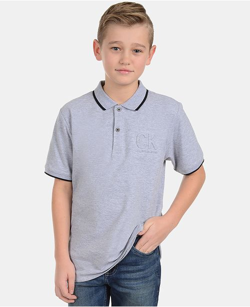 Calvin Klein Big Boys Embossed Polo