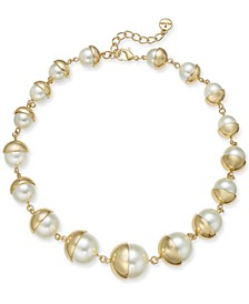 "Imitation Pearl All-Around Necklace, 19"" + 2"" extender, Created for Macy's"