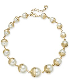 "Alfani Imitation Pearl All-Around Necklace, 19"" + 2"" extender, Created for Macy's"