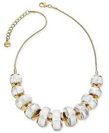 """Gold-Tone Imitation Pearl Ring Frontal Necklace, 17"""" + 2"""" extender, Created for Macy's"""