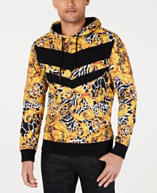 I.N.C. Men's Pieced Animal Print Hoodie, Created for Macy's