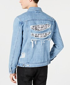 I.N.C. Men's Wally Denim Trucker Jacket, Created for Macy's