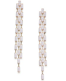Thalia Sodi Gold-Tone White Baguette Linear Earrings, Created for Macy's