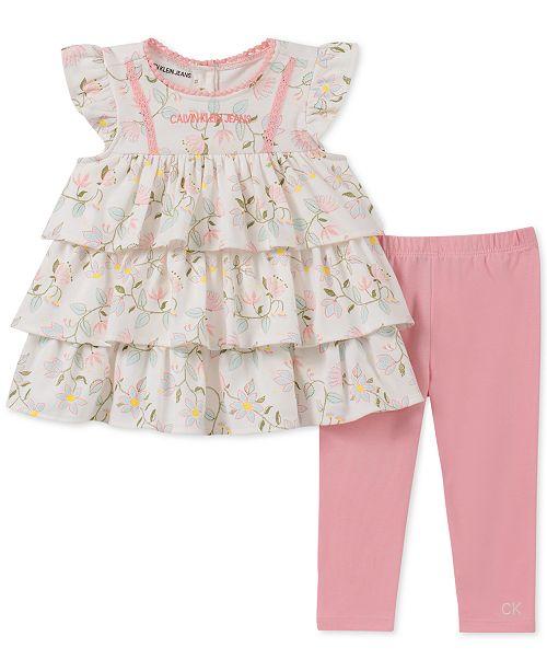 Calvin Klein Baby Girls 2-Pc. Tunic & Leggings Set