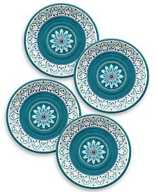 TarHong Moroccan Medallion Dinner Plate, Set of 4