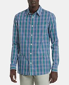 Men's Big & Tall Slim-Fit Plaid Shirt