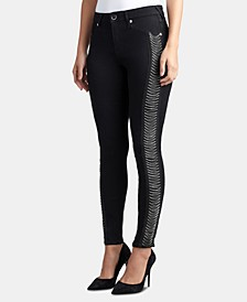 Jennie Curvy-Fit Chain-Trim Jeans