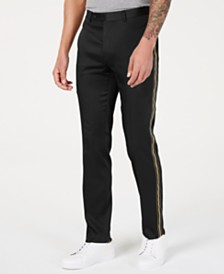 Calvin Klein Men's Slim-Fit Stretch Side Stripe Track Pants