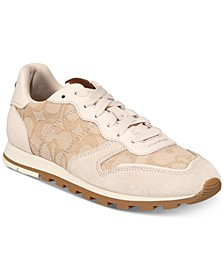 Women's Leather Signature Jogger Sneakers