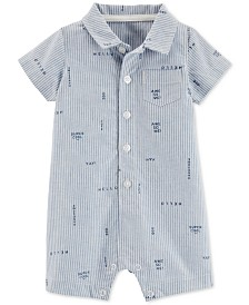 Carter's Baby Boys Slogan-Print Cotton Romper