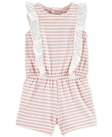 Carter's Baby Girls Striped Cotton Romper
