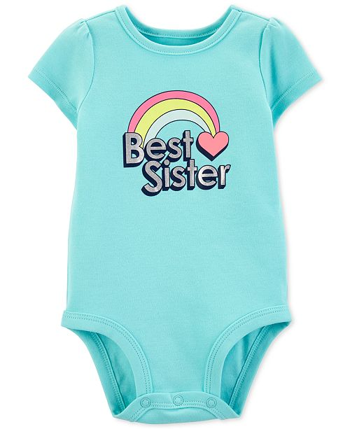Carter's Baby Girls Best Sister Graphic Cotton Bodysuit
