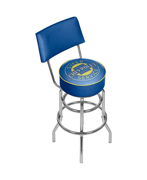 Trademark Global Chevrolet Swivel Bar Stool with Back - Super Service