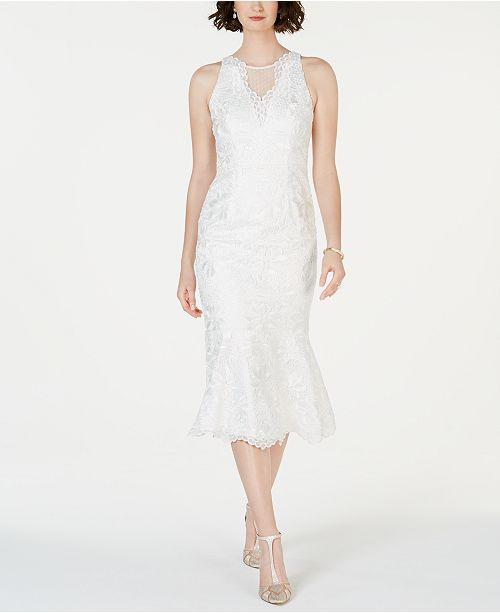 032fd947307d Adrianna Papell Lace Flounce-Hem Dress & Reviews - Dresses - Women ...