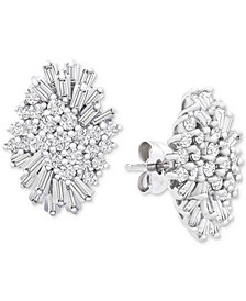 Wrapped in Love Diamond (1 ct. t.w.) Starburst Earrings in 14k White Gold, Created for Macy's