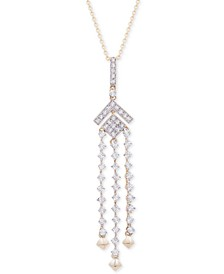"""Diamond (1/2 ct. t.w.) Chandelier Necklace in 14k Gold, 18"""" + 2"""" extender, Created for Macy's"""