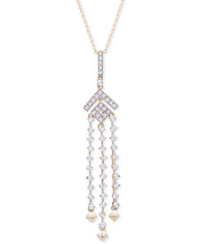 "Wrapped in Love Diamond (1/2 ct. t.w.) Chandelier Necklace in 14k Gold, 18"" + 2"" extender, Created for Macy's"