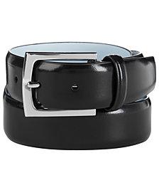 Calvin Klein Men's Semi-Shine Feather-Edge Leather Belt