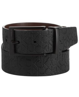 Men's Logo Leather Belt