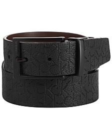 Calvin Klein Men's Logo Leather Belt