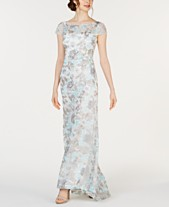 3fc5ac6949 Calvin Klein Floral-Embroidered Gown