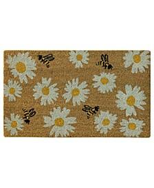 """Daisy Bee Toss 18"""" x 30"""" Doormat"""