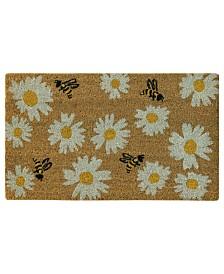 """Bacova Daisy Bee Toss 18"""" x 30"""" Doormat"""