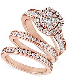 Diamond (2 ct. t.w.) Three-Piece Ring