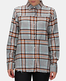 Hurley Juniors' Cotton Plaid Flannel Shirt