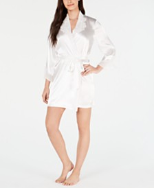 Linea Donatella Short Heirloom Bridal Wrap Robe