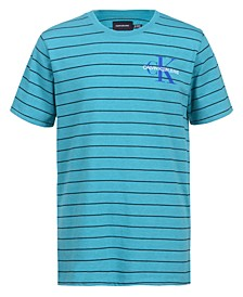Big Boys Pinstripe Logo T-shirt
