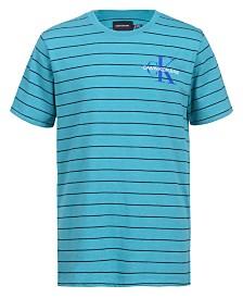 Calvin Klein Big Boys Pinstripe Logo T-shirt