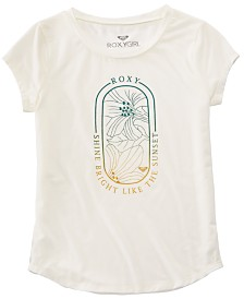 Roxy Big Girls Shine Bright Graphic T-Shirt