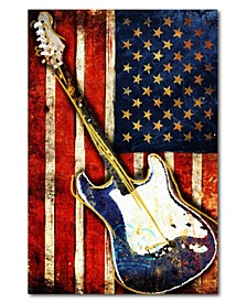 "Patriotic Guitar Gallery-Wrapped Canvas Wall Art - 12"" x 18"""