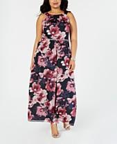 d6ac8043624 SL Fashions Plus Size Floral-Print Gown
