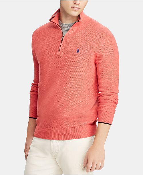 Polo Ralph Lauren Men's Big & Tall Quarter-Zip Sweater