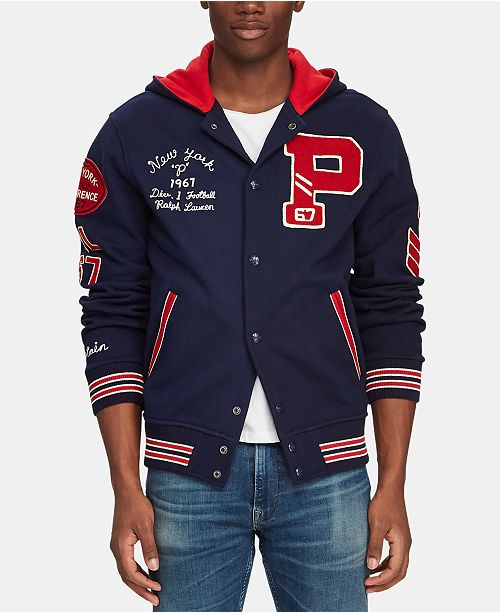 Polo Ralph Lauren Men's Hooded Letterman Jacket
