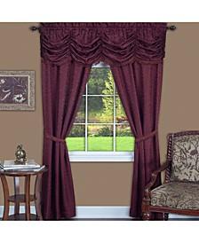 Panache 5 Piece Window Curtain Set, 55x63