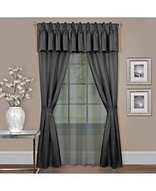 Claire 6 Pc Window Curtain Set, 55x63