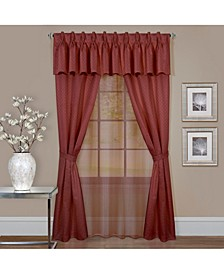 Claire 6 Pc Window Curtain Set, 55x84