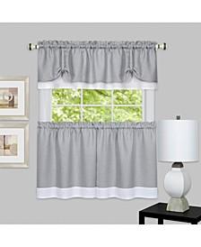Darcy Window Curtain Tier and Valance Set, 58x24