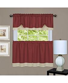 Darcy Window Curtain Tier and Valance Set, 58x36